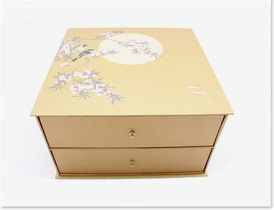 Decorative Drawer Gift Boxes Custom Handmade 2 Tier Square Cardboard Box