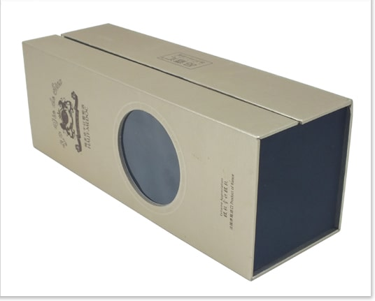 Luxury Cardboard Wine Packaging Boxes With Window