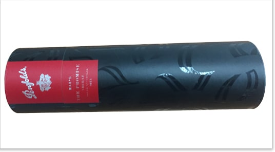 Black Wine Gift Boxes Spot Uv Coating Cardboard Cylinder Packaging