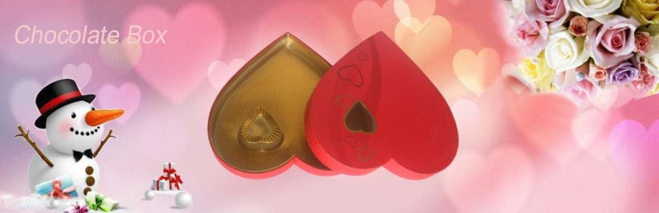 Heart-shaped Chocolate Gift Box with Window